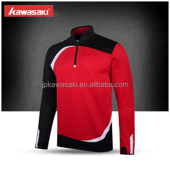 6e398a0a3 Sublimation professional buy soccer team uniforms wholesale knitted red and black  soccer club jerseys with zipper