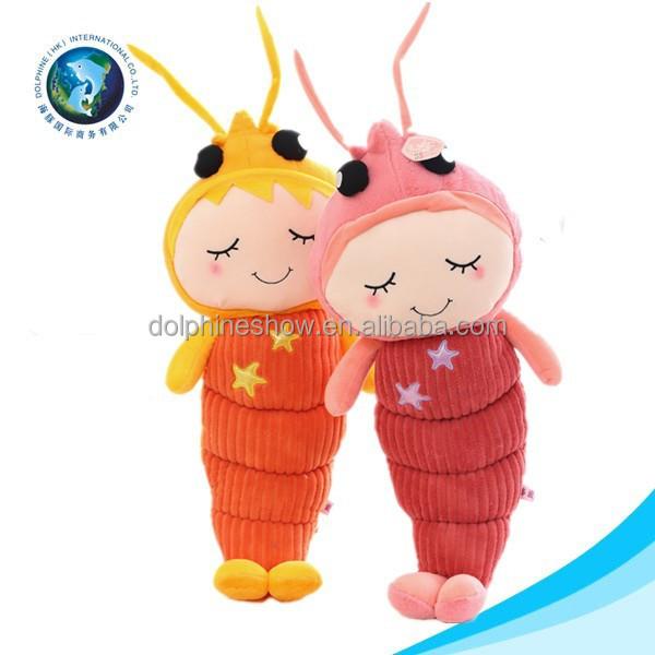 Lifelike Cute Stuffed Soft Puppet Shrimp Toy Plush Lobster Toy Buy