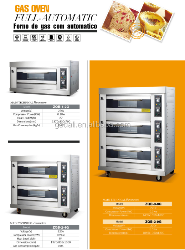 High capacitive and cheap industrial used bread oven, bread oven machine