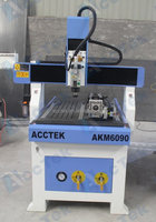 Acctek mini cnc acrylic engraving machine/3d cnc router sign making machine for wood, MDF, acrylic, stone, aluminum
