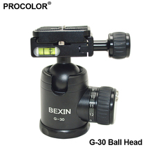 NEW tripod rotating camera mount & accessories Metal Ball Head + Quick Release Plate for Tripod DSLR Camera