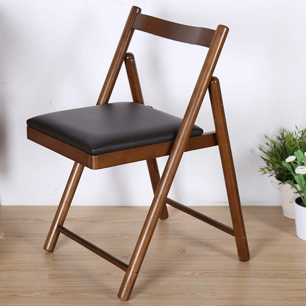 YXWyz Folding Tables Simple fashion folding dining table chair/solid wood dining chair modern comfortable chair/home desk chair Reception Chairs (Color : B)