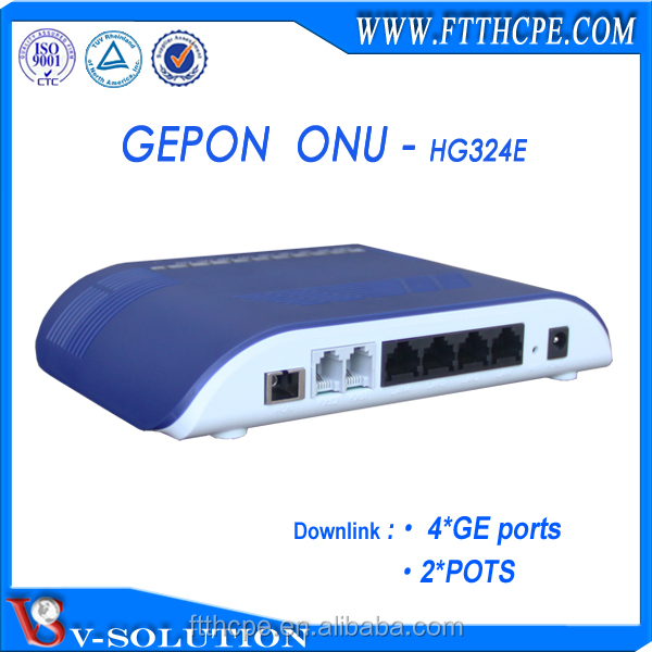 Support IPTV,Same as ZTE ZXA10 F420 4*1000M+2POTS optical router,FTTH GEPON ONU
