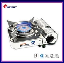 2017 Maxsun mini portable gas stove with stainless steel surface and compact body