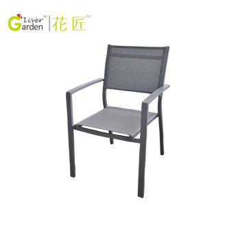 Best Quality Metal Sling Chair Outdoor Sling Back Chairs Garden Line  Stacking Chair