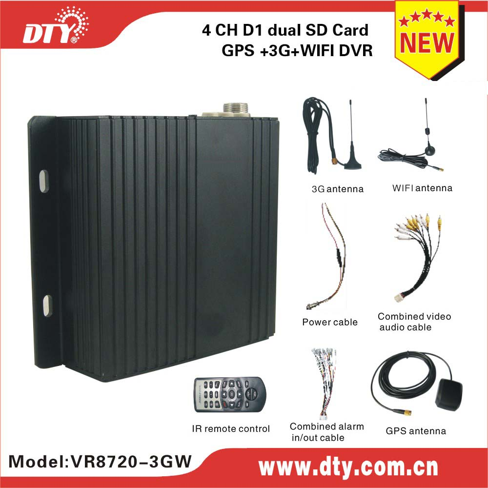 DTY VR8720-3GW 4ch sd mdvr with free player