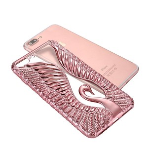 2017 new 3D angel love TPU phone case factory direct plating phone case for iPhone 8