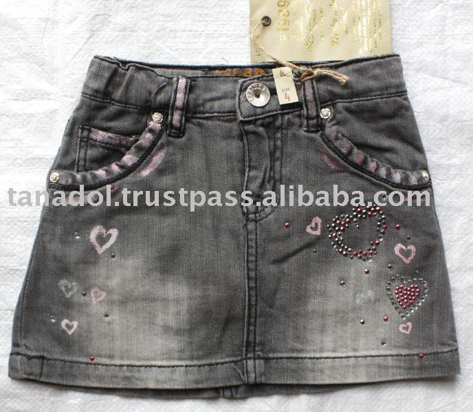 Sell Girls jean skort,children clothing,children wear,kid clothes