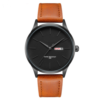 Free Mock Up Private Label Wholesale Leather Waterproof Custom Logo Wrist Watch, Wrist Watch Men 2018