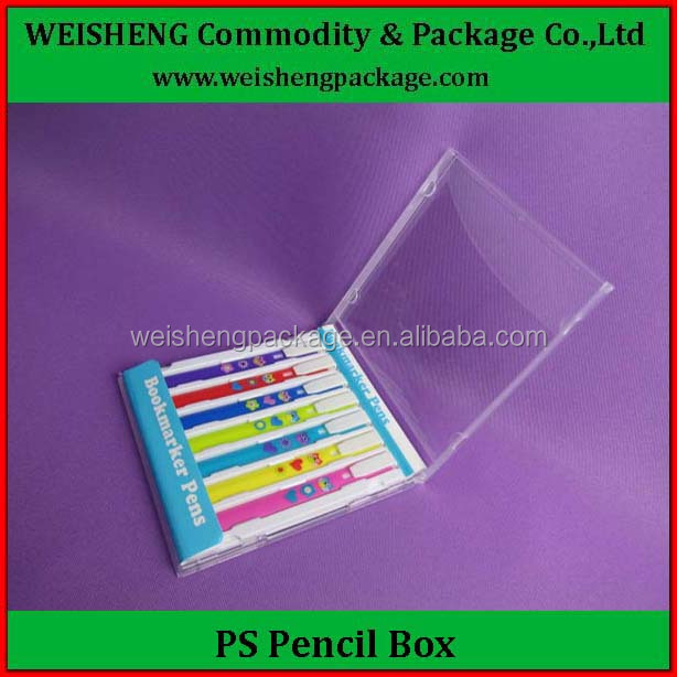ODM OEM welcome trial order accept free sample pencil box cheap plastic pen gift box