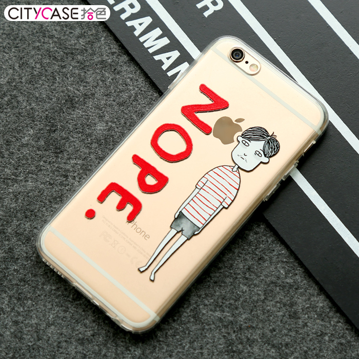 cover mobile 2017 Cartoon couples cover mobile 5s / Clear Transparent TPU Soft Phone case for iphone 6 6s plus