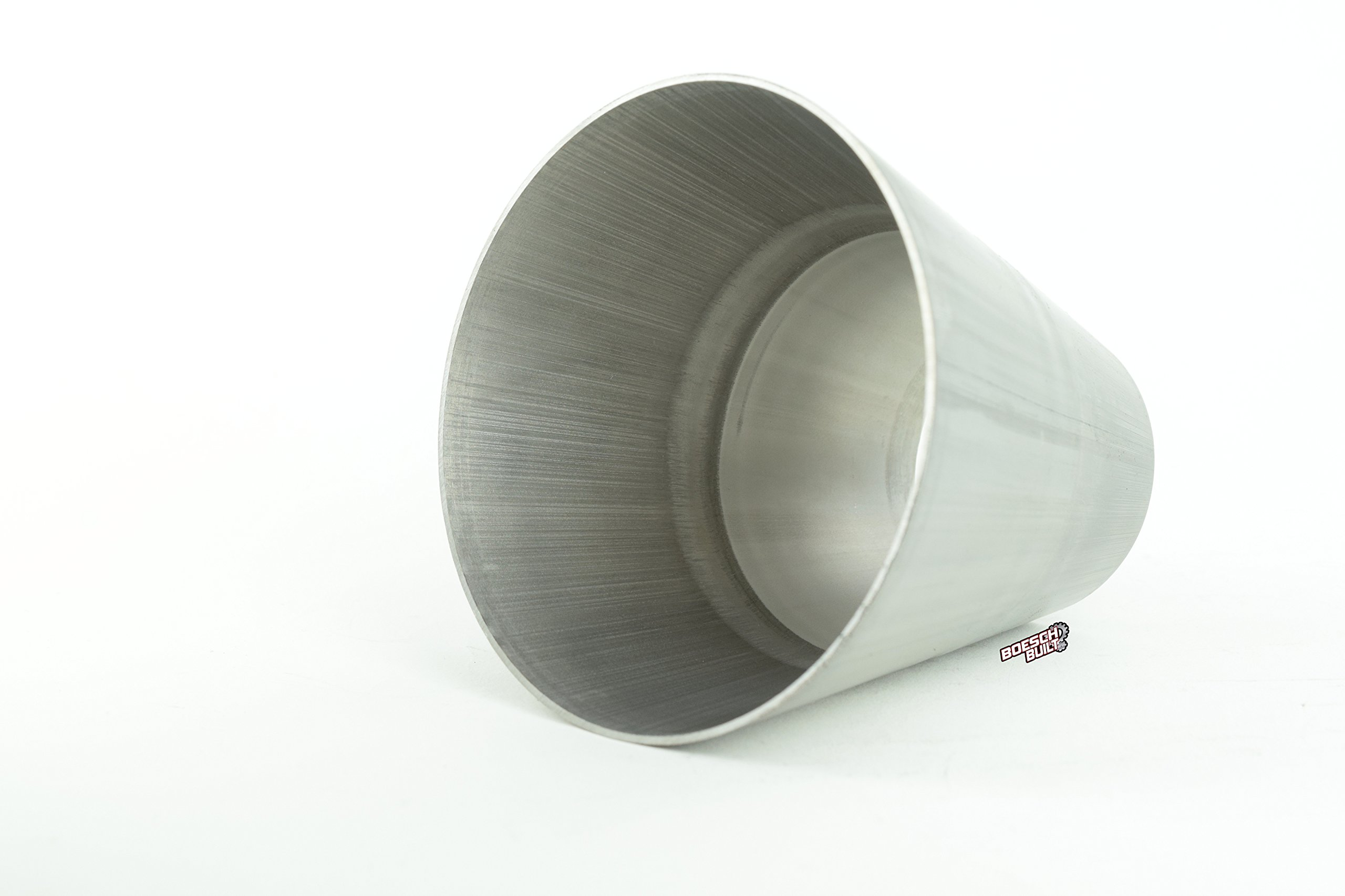 """Boesch Built 1.5"""" (1 1/2) to 3"""" Aluminum Transition (Can Be Cut to Fit 2"""" to 3"""") 1.5"""" to 3"""" Aluminum Conical Cone AT1.5-3"""