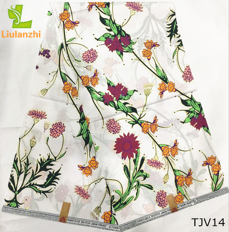 wholesale african wax print <strong>fabric</strong> white colour java prints high quality veritable real wax <strong>fabric</strong> TJV14