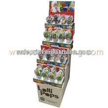 New design corrugated cardboard lollipop display best price used retail displays for sale