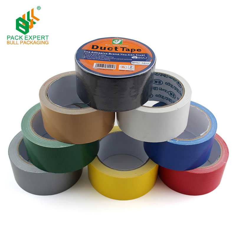 Supply Custom Gedrukt/Gekleurde Duct Tape 48mm Rode Doek Tape Groothandel