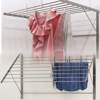 Clothes foldable laundry rack wall Mounted Folding Adjustable Collapsible