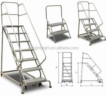 Platform With Handle Supermarket Rolling Trolley Ladder