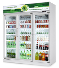 Green&Health Refrigeration Three glass door refrigerator with five layers shelf