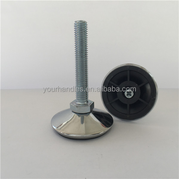Wear Resisting Screw Threaded Table Glides Metal Adjustable Leveling Feet