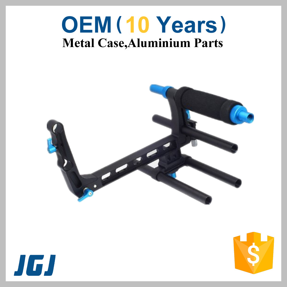 OEM Aluminum Parts For Camera Stabilizer, C-shape Cage Bracket Support For 15mm Rod Rail DSLR Rig Follow Focus