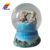 Wholesale 80mm Silver Plating Life Size Resin Christmas Souvenir Crystal Snow Globe