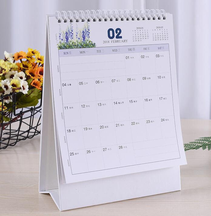 New Arrival Paper Spiral Table Calendar High Quality Custom Printing Spiral Desk Table Monthly Calendar For Promotion