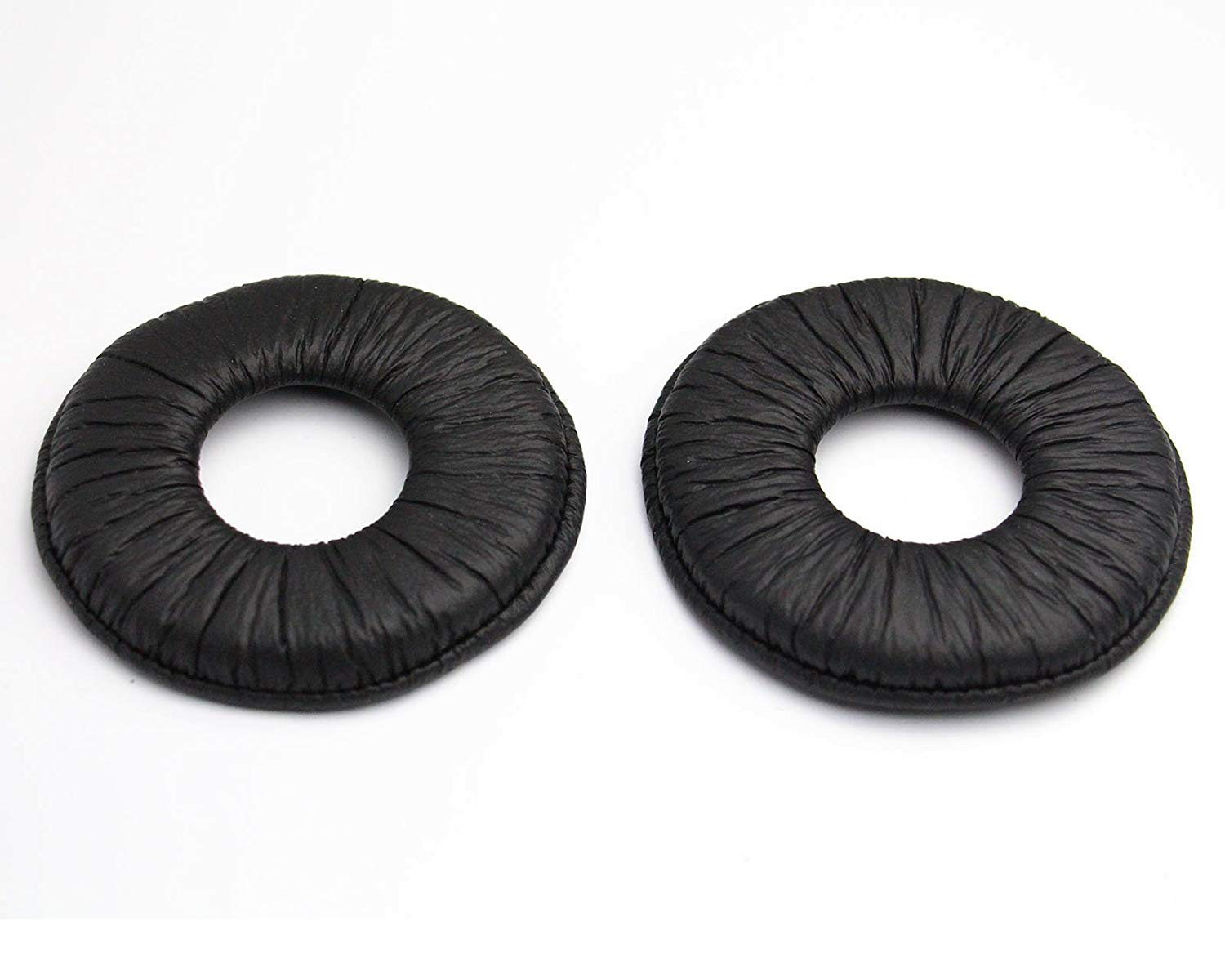 ShineCozy Premium Headphones Earpads Protein Leather Foam Ear Cushions,Headset Ear Pads Spare Replacement Parts (For Sony MDR-V150 V250 V300 V100 70MM Black J-27-Black)