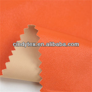 0.4mm saffron yellow polyester faux leather fabric