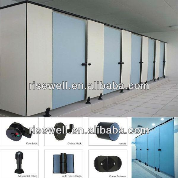 Bathroom Stall Gravity Hinge phenolic toilet door, phenolic toilet door suppliers and