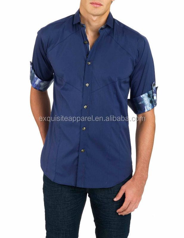 Men S European Italian Half Sleeve Designer Dress Shirts Shirt Product On Alibaba
