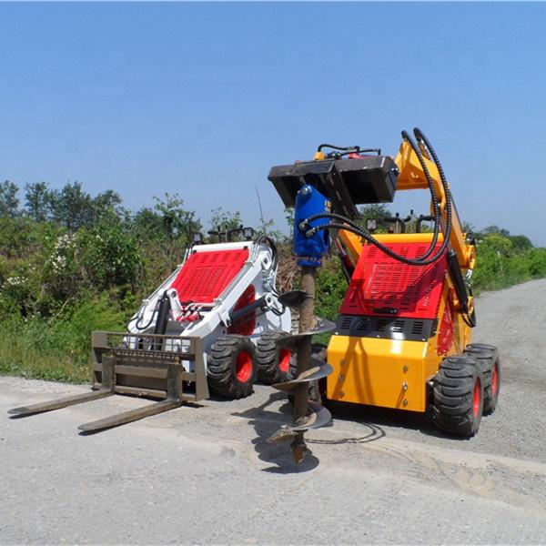 מיני מטעין משאית רכוב אדמה נטיעות המקדחה