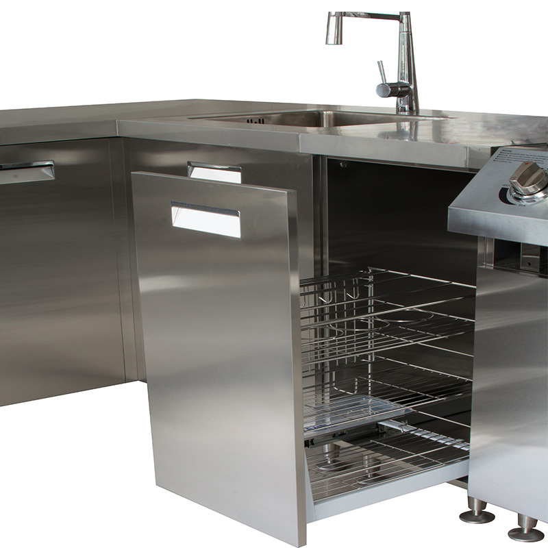 Moderne rvs outdoor keukenkast outdoor keuken bbq outdoor keuken ontwerpen keuken kasten - Rvs plaat voor keuken ...