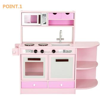 Pink Color Mdf Material Kids Kitchen Toy Set For Girls - Buy Kitchen Set  Children,Kitchen Sets For Girls,Kitchen Toy Set Product on Alibaba.com