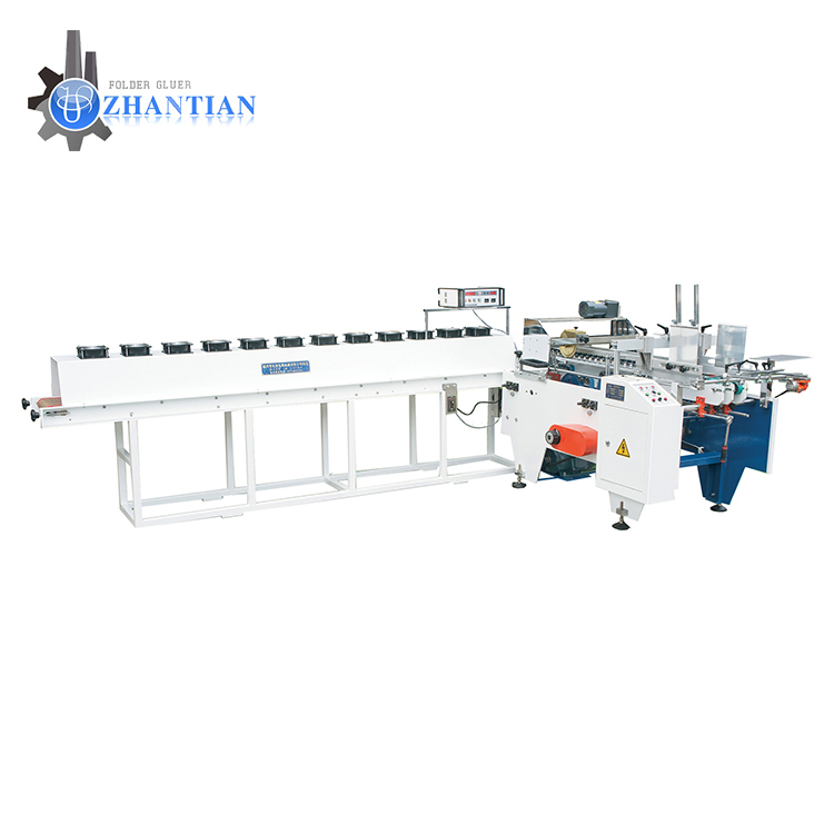 Safety item boxes stick more firm  pasting folder gluer machine for gluing corrugated cardboard carton