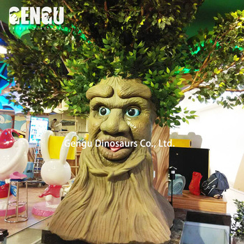 Indoor Playground High Simulation Attractive Animatronic Tree
