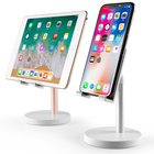 Adjustable mobile phone support portable aluminum swivel bed tablet pc stand holder for ipad air pro 12.9