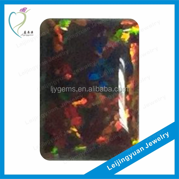 China Rough Multi-Color Synthetic Fire Opal For Jewelry Making