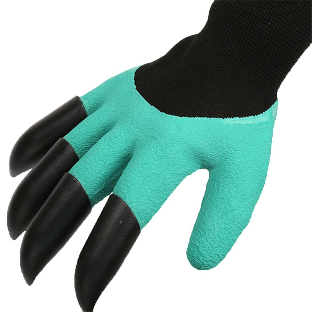 ANONE Garden Genie Gloves with Fingertips Uniex Right Claws Quick & Easy to Dig and Plant Safe for Rose Pruning (5 pairs)