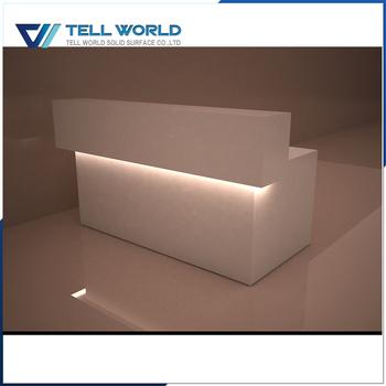Simple Modern White Illuminated Beauty Salon Reception Desks - Buy Beauty  Salon Reception Desks,White Illuminated Reception Desk,Modern White ...