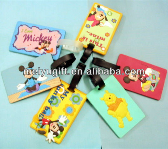 Multi-colored Silicone Luggage Tag identification card/Tas