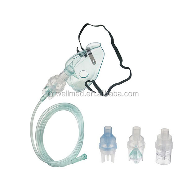 oxygen mask with small bottle