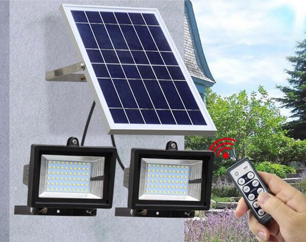12W night sensor Solar Light LED Flood Lamp indoor and Outdoor Garden Spotlights
