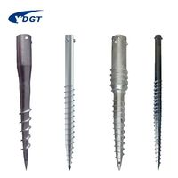 Hot Dip Fence Foundation Ground Screw Helical Piles Post Anchor