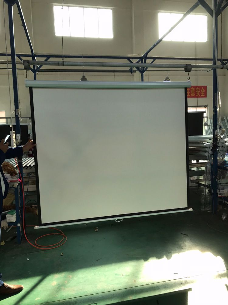 High Gain Projection Manual Screen Projector Wall Mounted Ceiling