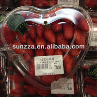 PET heart shape plastic strawberry packaging container