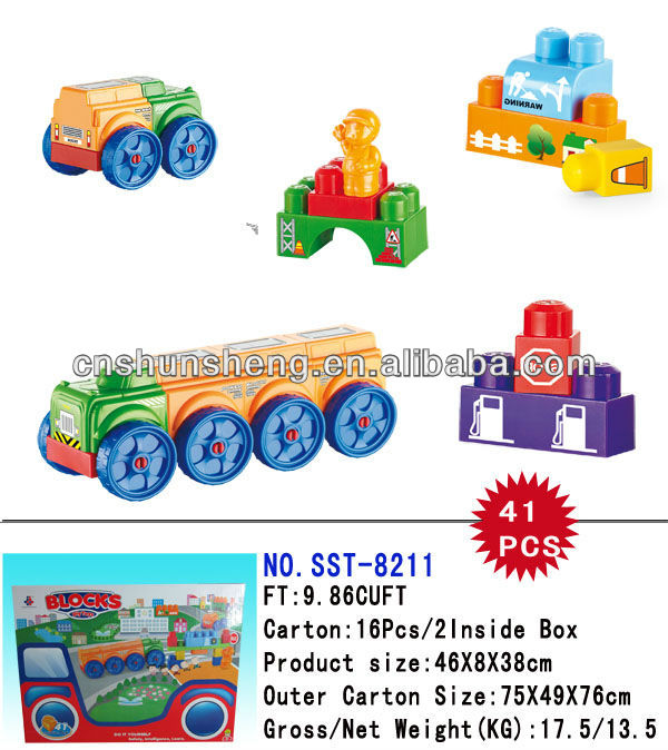 2013 New <strong>Toys</strong> Building Block Car Type Bricks Funny Educational <strong>Toys</strong>