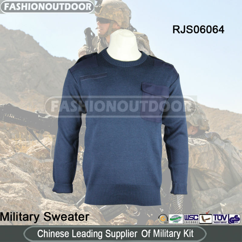 Military Navy Bule Man Military Jumper Sweater/Pullover