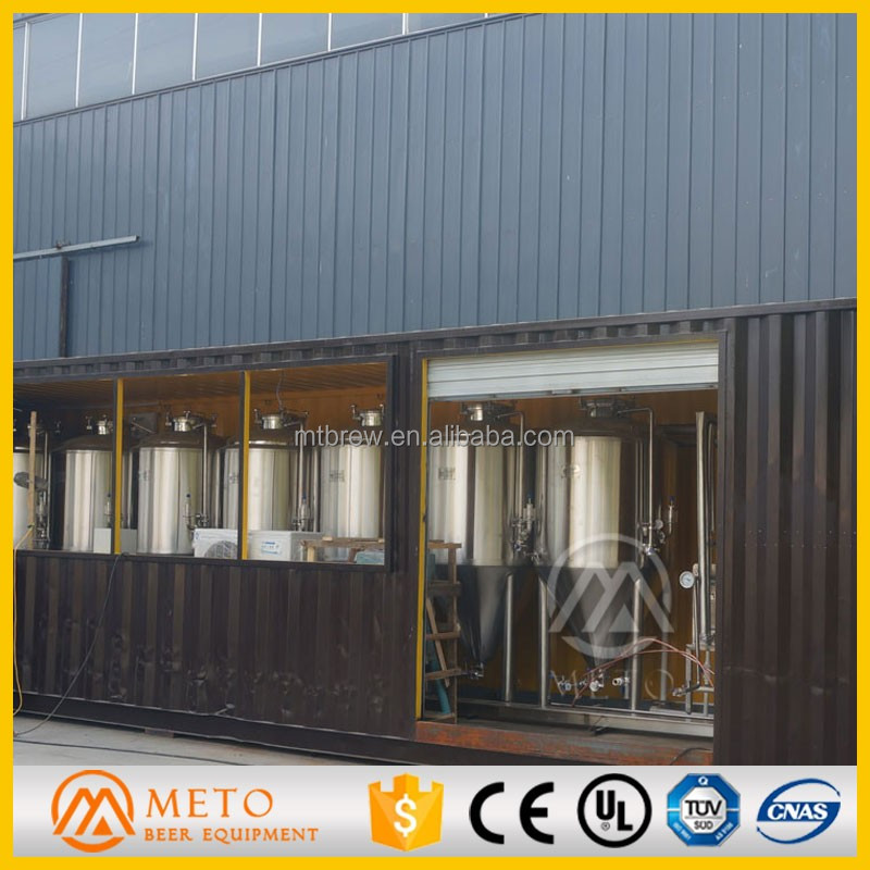 Most economic 500L 5BBL container beer brewing system micro brewery for sale
