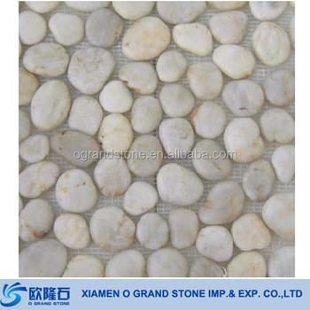 Polished White Pebble Stone Tile Garden Natural Pebbles