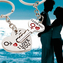 New llavero pareja porte clef Casual Chaveiro Couple I LOVEYOU Heart Car Keychain Keyring Key Chain Lover Novelty souvenirs Gift